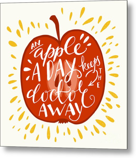 Colorful Hand Lettering Illustration Of Metal Print by Tashanatasha
