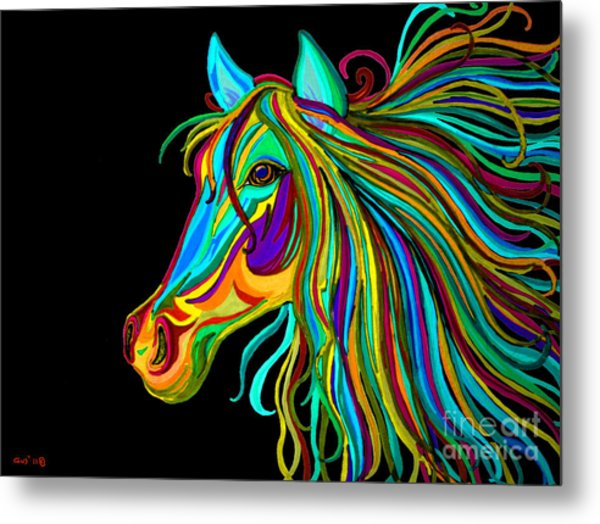Colorful Horse Head 2 Metal Print