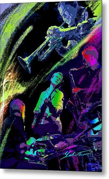 Colorful Jazz Metal Print