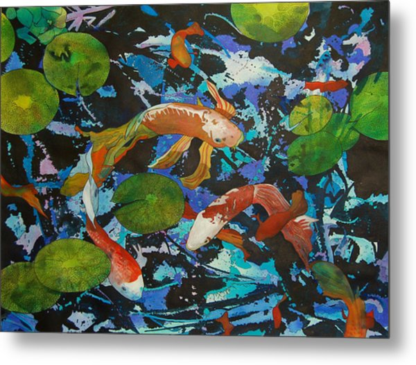 Colorful Koi Metal Print