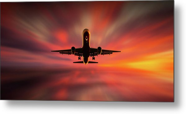 Colorful Landing. Metal Print by Leif L?ndal