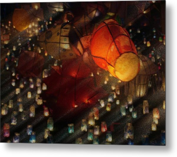 Colorful Lanterns Metal Print