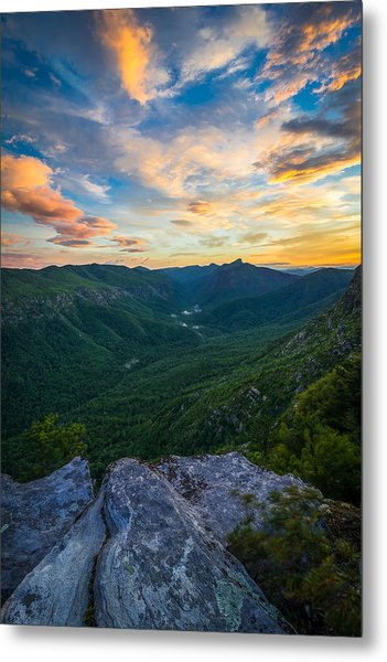 Colorful Linville Sunrise Metal Print
