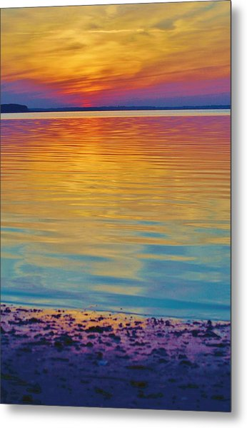 Colorful Lowtide Sunset Metal Print