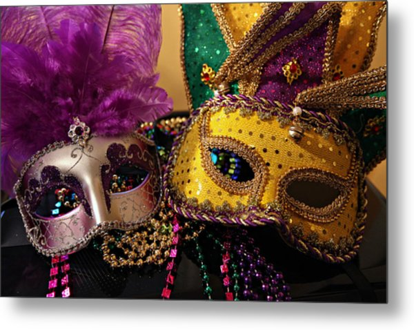 Colorful Mardi Gras Masks Metal Print
