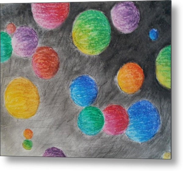 Colorful Orbs Metal Print