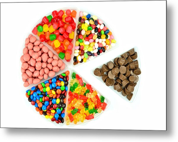 Colorful Pie Charts Metal Print