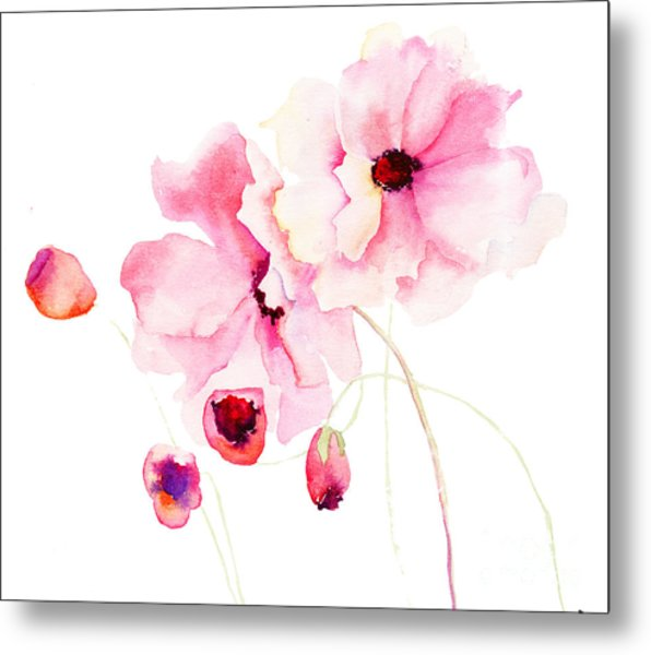 Colorful Pink Flowers Metal Print