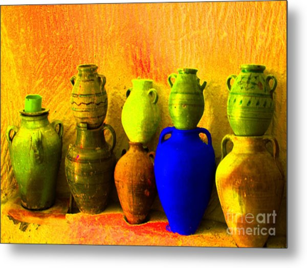 Colorful Pottery Metal Print