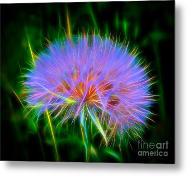Colorful Puffball Metal Print