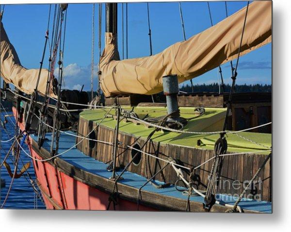 Colorful Sailboat Metal Print