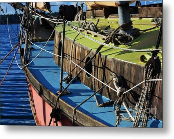Colorful Sailboat II Metal Print
