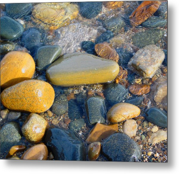Colorful Shore Rocks Metal Print