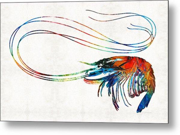 Colorful Shrimp Art By Sharon Cummings Metal Print