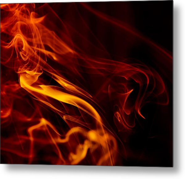 Colorful Smoke Trails Metal Print