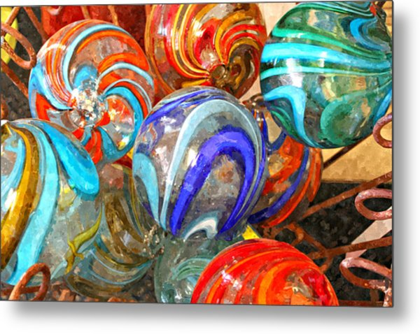 Colorful Spheres Metal Print