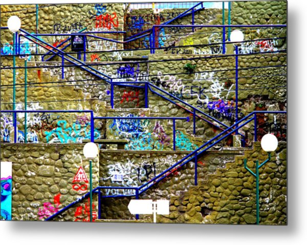 Colorful Steps Metal Print by Arie Arik Chen