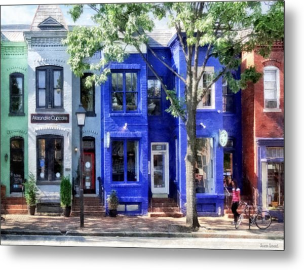 Alexandria Va - Colorful Street Metal Print
