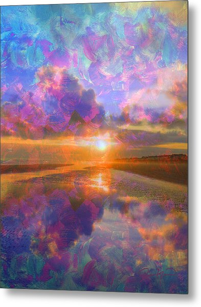 Colorful Sunset By Jan Marvin Metal Print