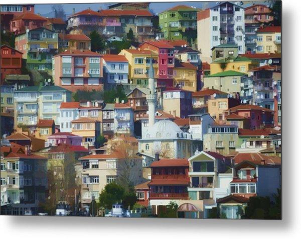 Colorful Town Metal Print