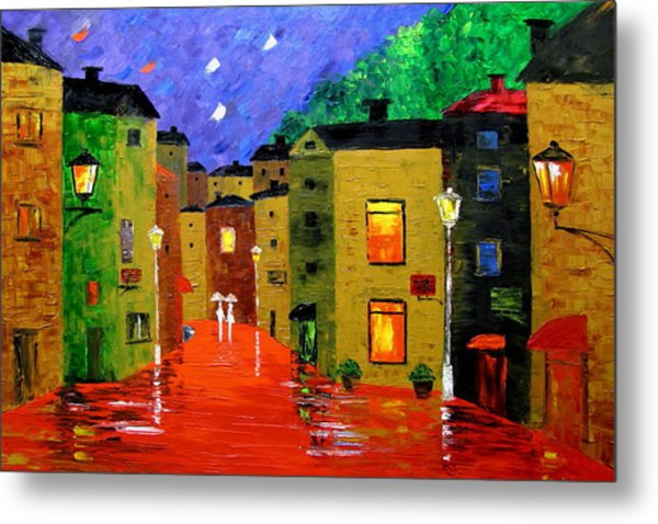 Colorful Town Metal Print by Mariana Stauffer