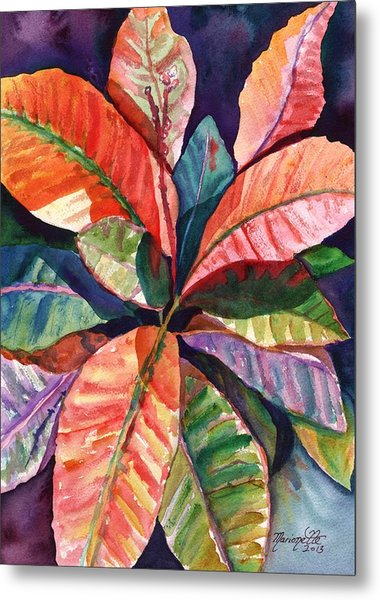 Colorful Tropical Leaves 1 Metal Print