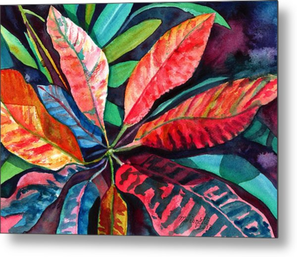 Colorful Tropical Leaves 2 Metal Print