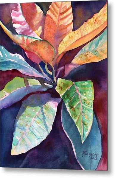 Colorful Tropical Leaves 3 Metal Print