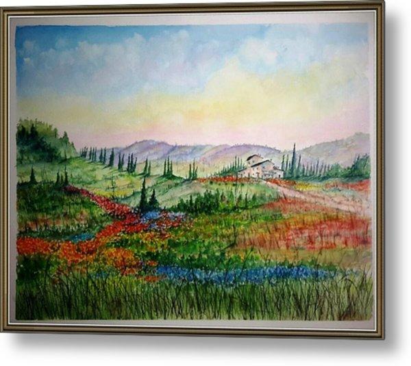 Colorful Tuscany Metal Print