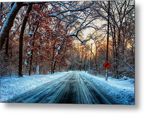 Colorful Winter Metal Print