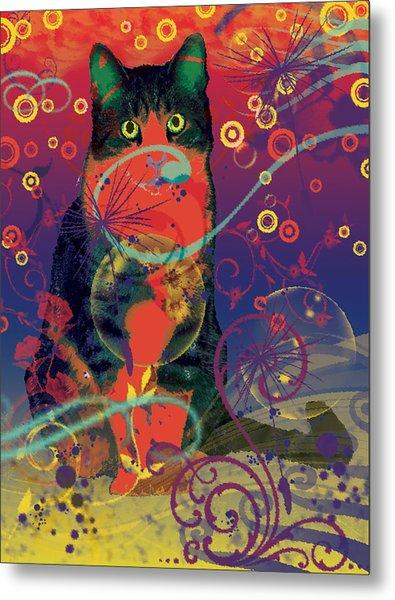 Colorfur Cat Metal Print