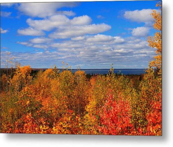 Colors Above Lake Superior Metal Print