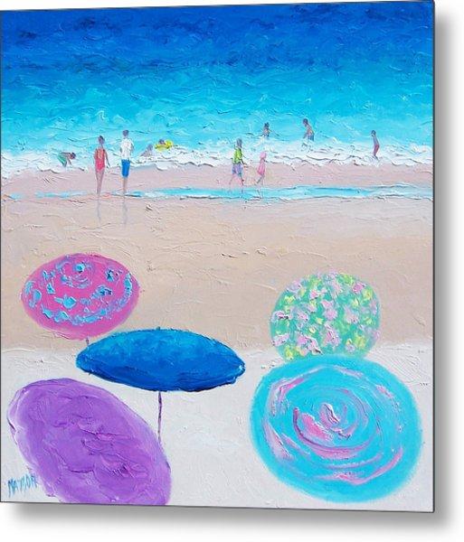 Colors Of Summer Beach Painting Metal Print