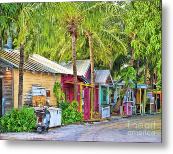 Lazy Way Lane Metal Print