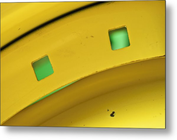 Colors On A Curve Metal Print