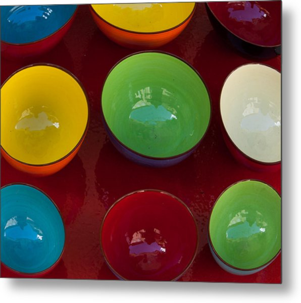 Colors Tray Metal Print