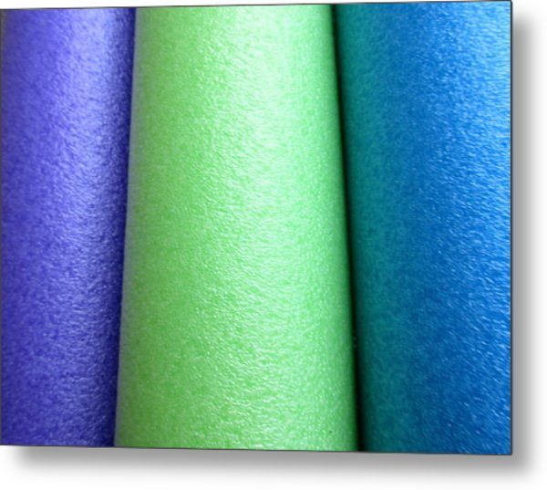 Colorscape Tubes A Metal Print