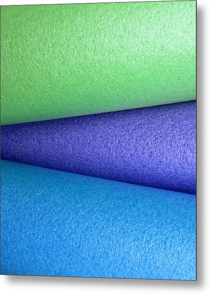 Colorscape Tubes B Metal Print