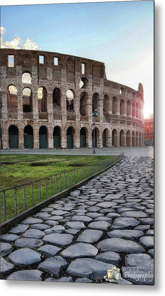 Coloseum Sunrise Metal Print by Victor Walsh Photography