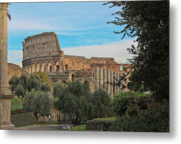 Colosseum Afar Metal Print
