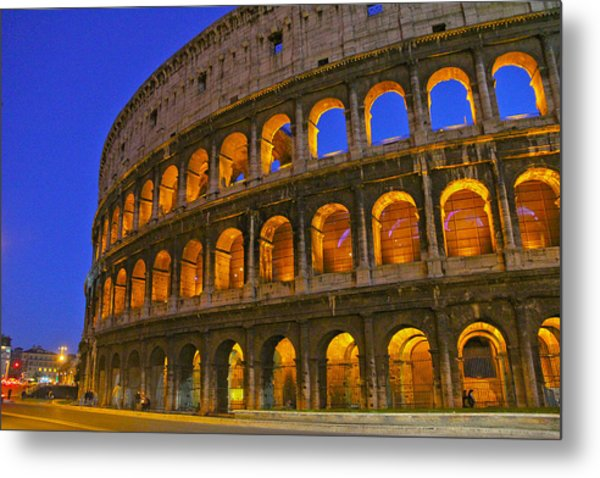 Colosseum Lights Metal Print