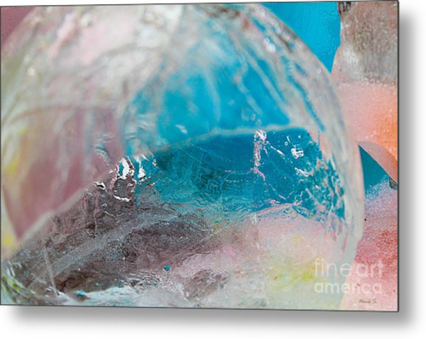 Coloured Ice Creation Print #4 Metal Print