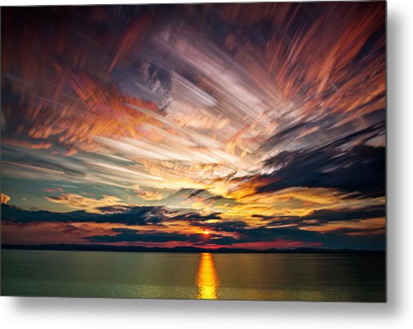 Colourful Cloud Collision Metal Print