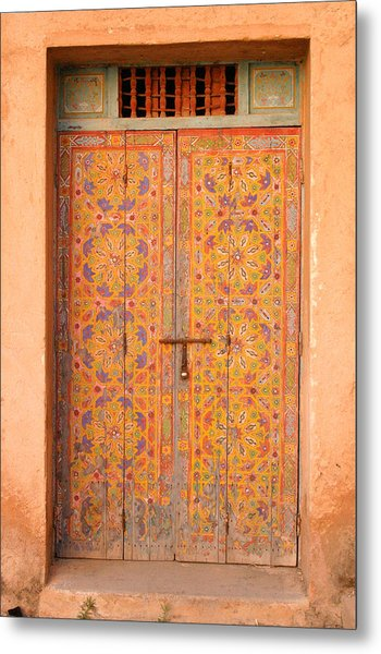 Colourful Entrance Door Sale Rabat Morocco Metal Print by PIXELS  XPOSED Ralph A Ledergerber Photography