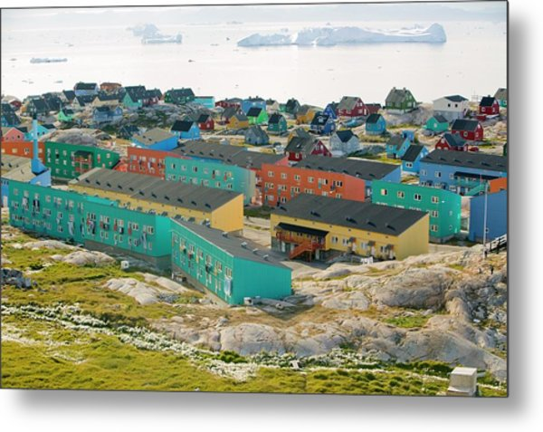 Colourful Houses In Ilulissat Metal Print