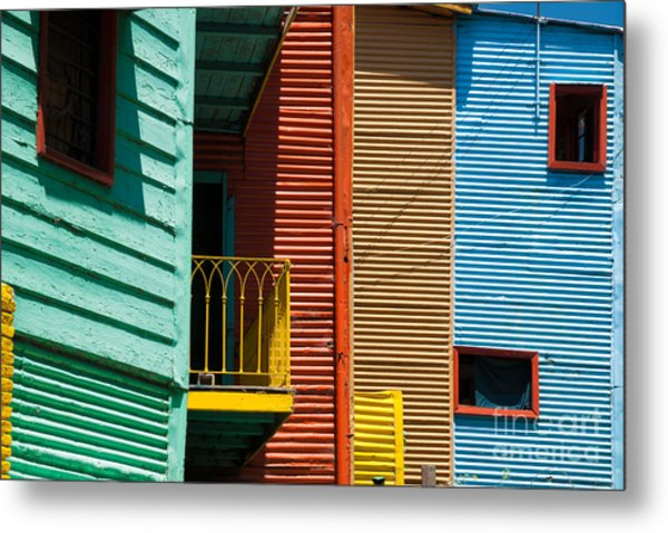 Colourful Houses In The Colourful Quarter Of La Boca - Buenos Air Metal Print by OUAP Photography