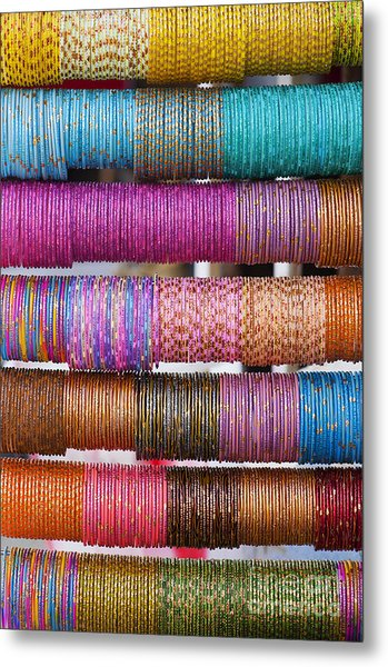 Colourful Indian Bangles Metal Print