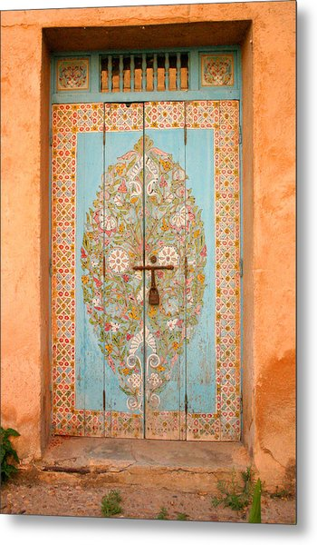 Colourful Moroccan Entrance Door Sale Rabat Morocco Metal Print