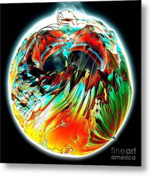 Colourful Planet Metal Print by Bernard MICHEL