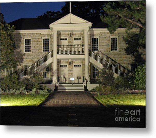 Colton Hall At Night Metal Print